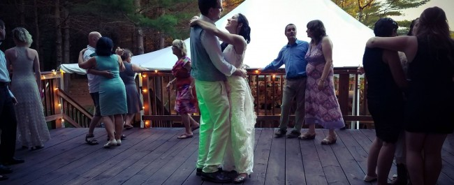 Melissa and Graham's First Dance. Maine Wedding Band Every Other Sunday